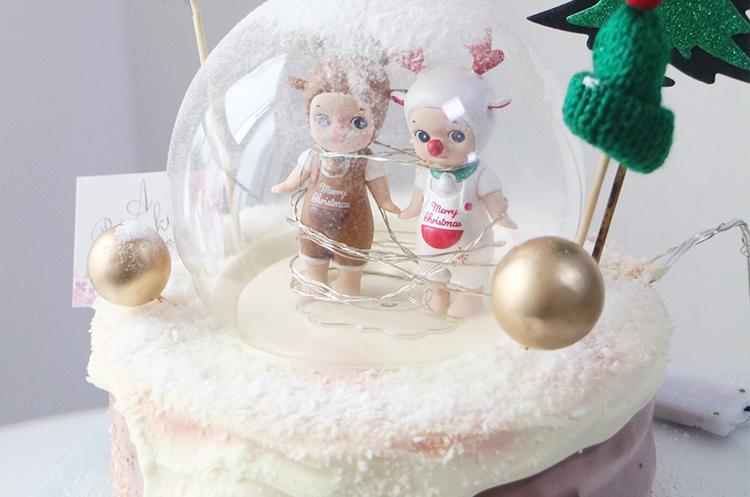 圣诞装饰蛋糕-淡奶油淋面