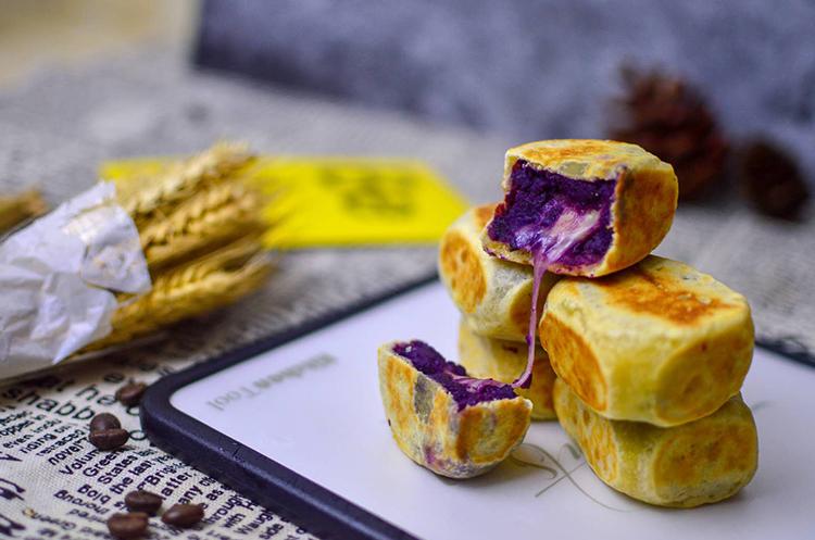 紫薯爆浆芝士仙豆糕