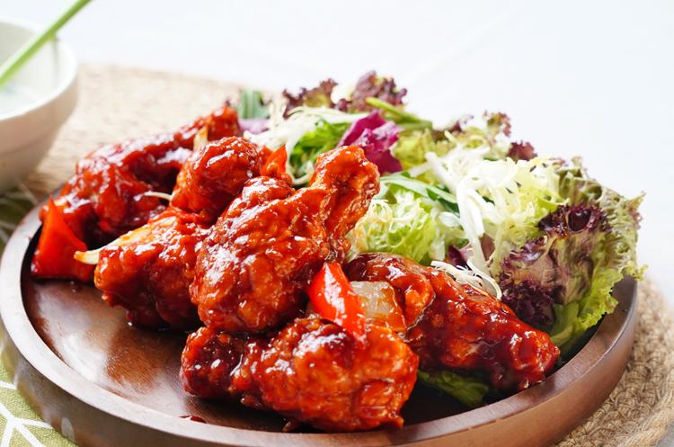 韩式甜辣果酱炸鸡