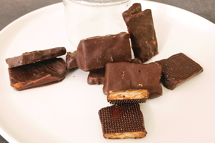 法式焦糖杏仁酥+焦糖脆皮巧克力