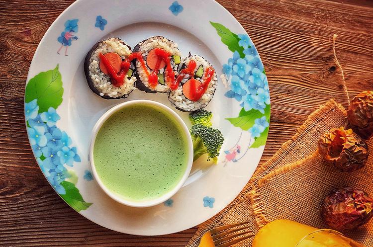 花朵寿司+西蓝花浓汤