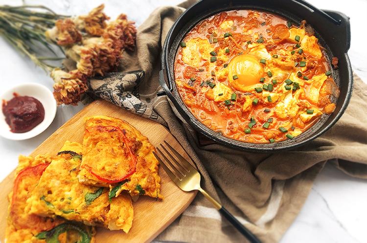 韩式豆腐锅x泡菜海鲜饼