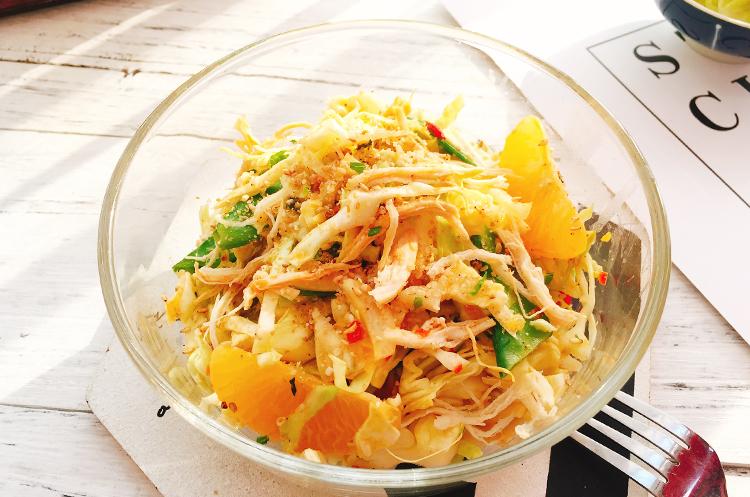 卷心菜鸡肉柑橘味增沙拉&爽口糖醋卷心菜