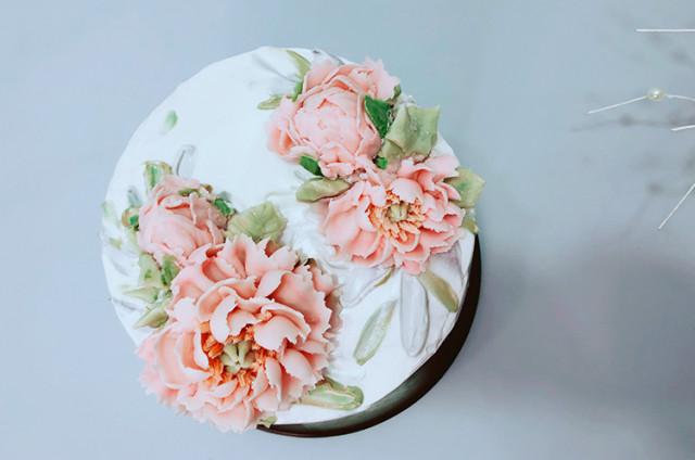 韩式裱花蛋糕—花开富贵