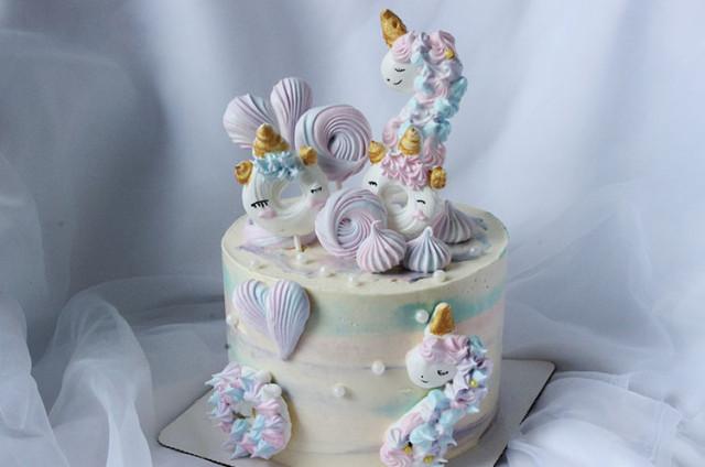 新款裱花蛋糕(二)梦幻独角兽蛋糕