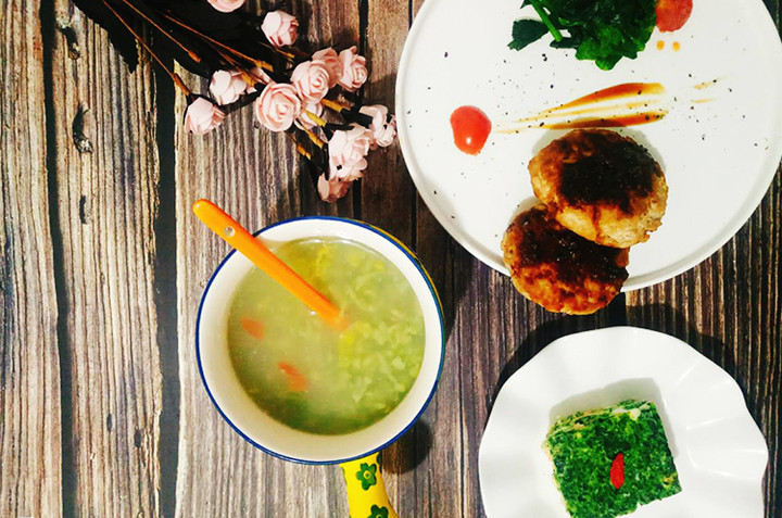 【月子餐】墨西哥牛肉饼/翡翠豆方/珍珠疙瘩汤