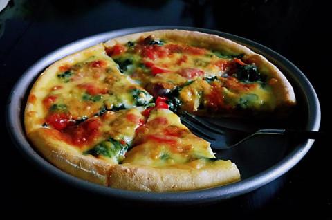 家庭版绿色披萨