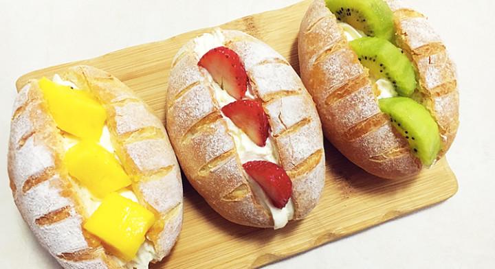 优选配方鲜果奶油面包