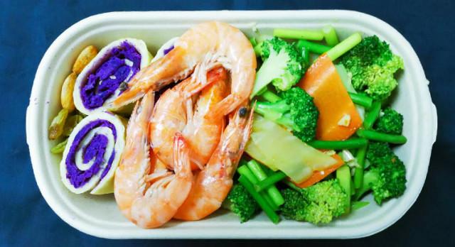 鲜虾紫薯蛋卷减脂餐