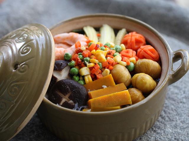 金玉满堂蔬食盆菜