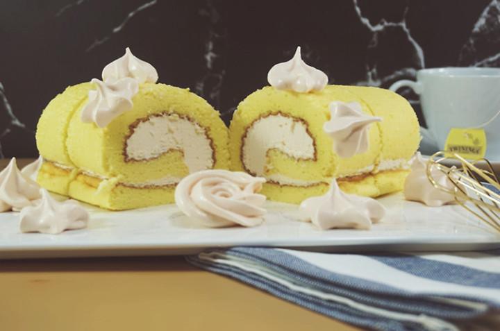 糯米粉版蛋糕卷和蛋白糖