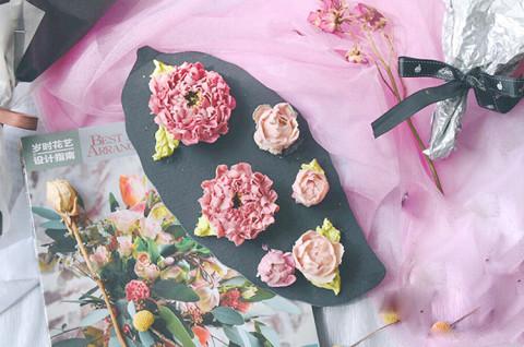 韩式裱花 自然系牡丹