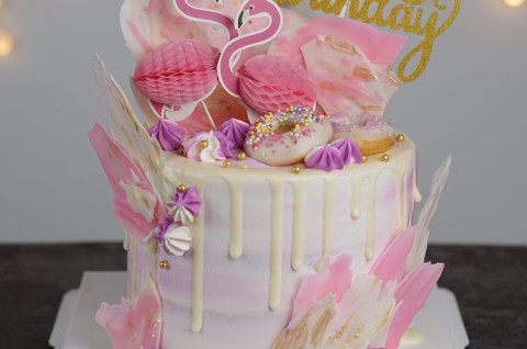 INS火烈鸟蛋糕