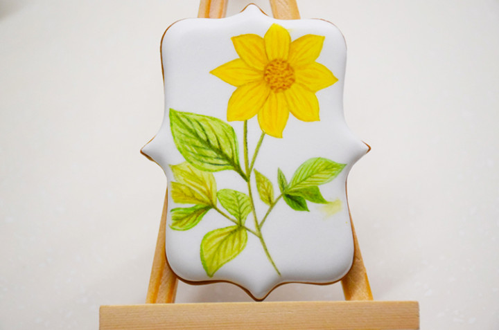 彩绘糖霜饼干(3)·向日葵