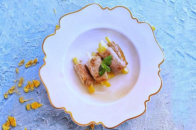 猪肉苹果卷&牛肉鲜蔬沙拉