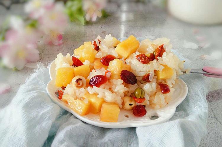 菠萝咕咾虾&菠萝糯米饭