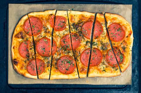 榴莲披萨&香肠薄底披萨