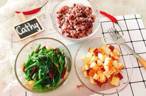 茭白虾仁杂蔬套餐-夏日减脂