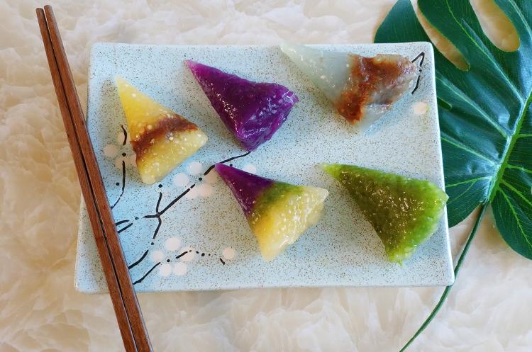 天然多彩水晶粽子