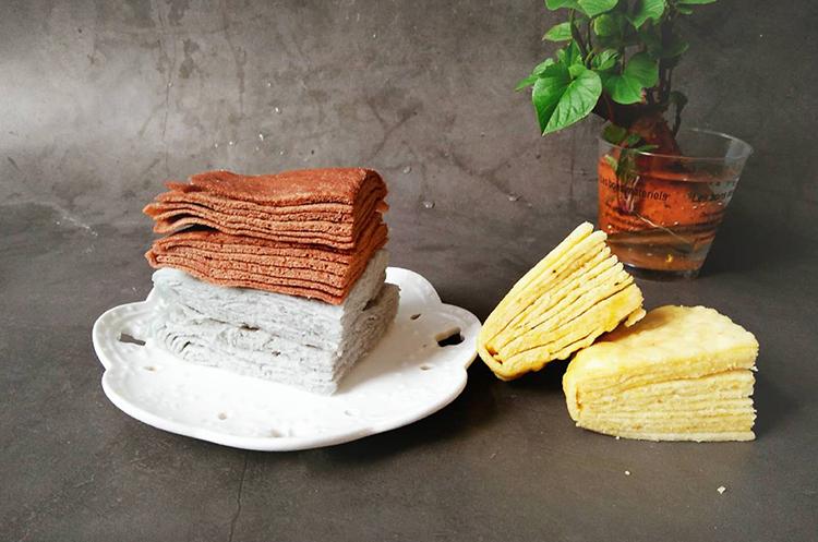 三种口味千层蒸饼