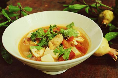 番茄豆腐龙利鱼+青椒龙利