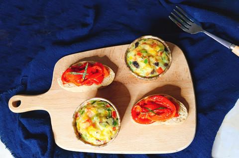 意式烤彩椒&彩椒香菇焗蛋