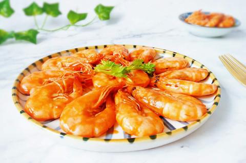 茄汁大虾+冬瓜丸子汤