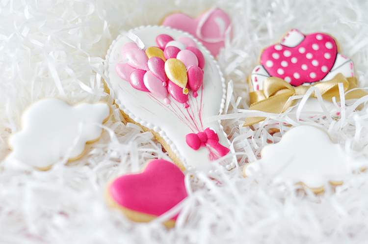 告白气球糖霜饼干