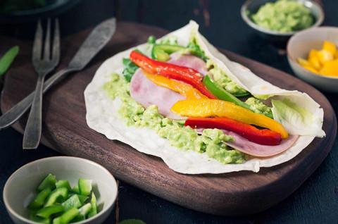 墨西哥鸡肉卷&牛油果卷
