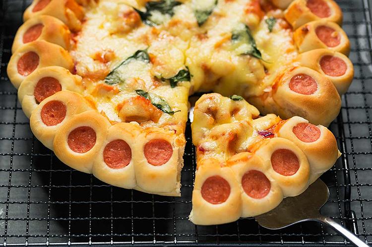 彩虹蔬菜&花边披萨