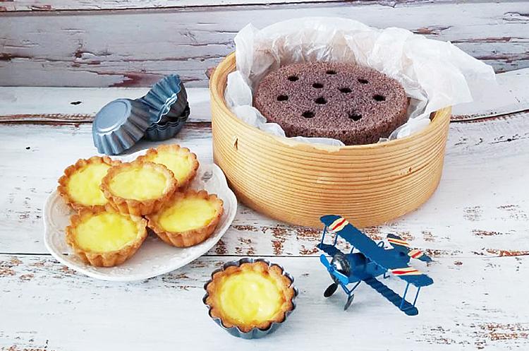 煤球黑米糕&曲奇蛋挞