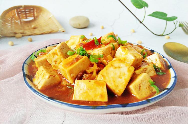 麻婆豆腐+干锅菜花