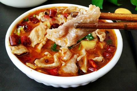 手抓饭+水煮肉片