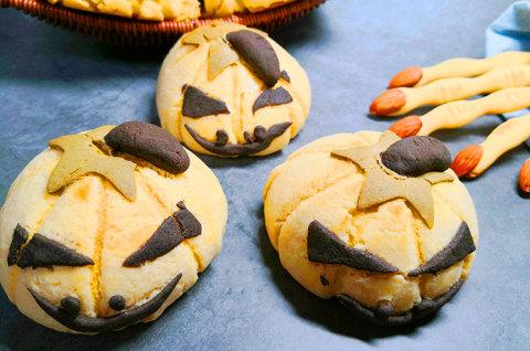 万圣节南瓜面包—搞怪酥皮
