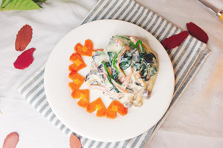 日式白和菠菜&韩式菠菜大酱汤