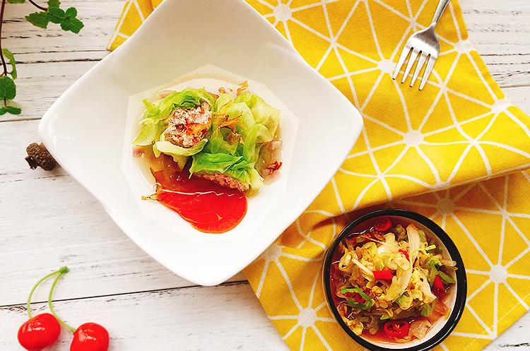 日式和风高汤包心菜卷&泰式虾酱卷心菜