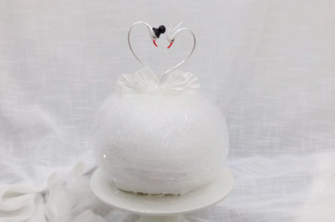 糖艺天鹅鸟巢蛋糕