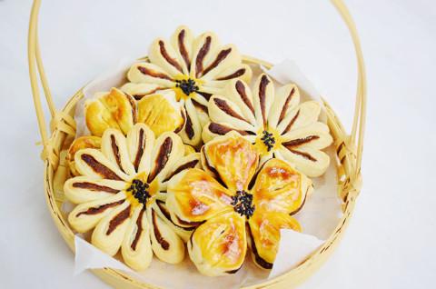 葵花酥&菊花酥