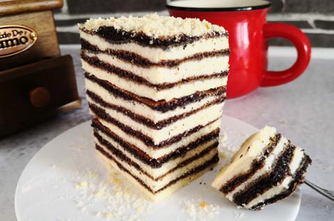 黑米花生千层蛋糕