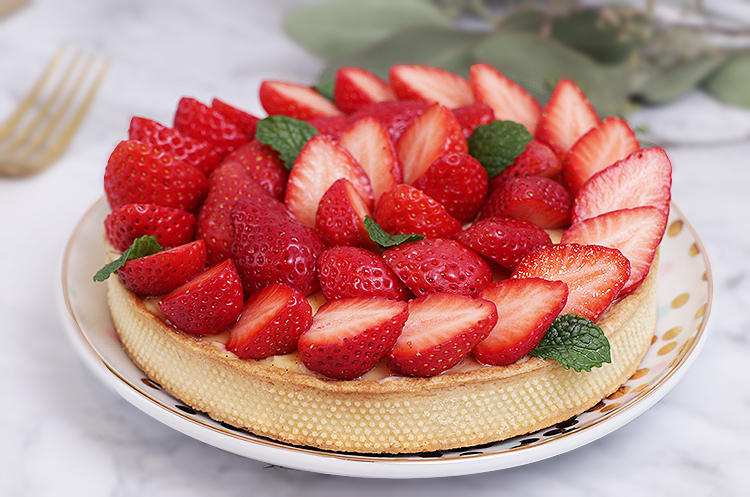 基础法点8:香草卡士达草莓塔