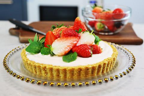 鲜草莓酸甜乳酪塔