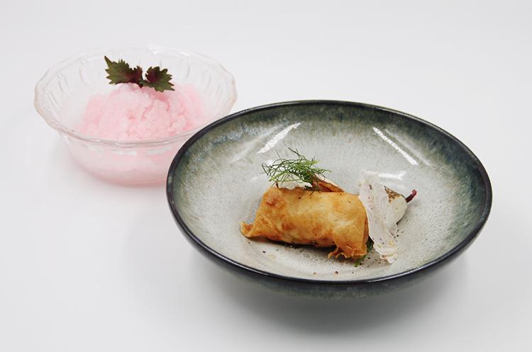 海鱼双吃与蜜桃冰沙
