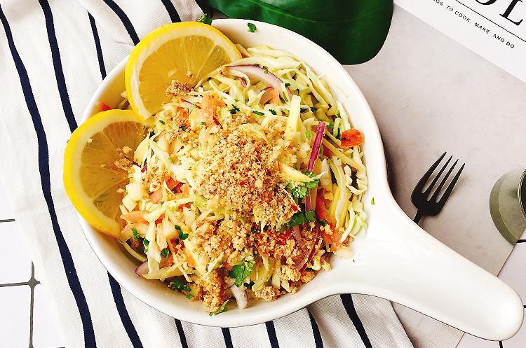 日系卷心菜菌蔬鸡肉味增煮&卷心菜芒果沙拉
