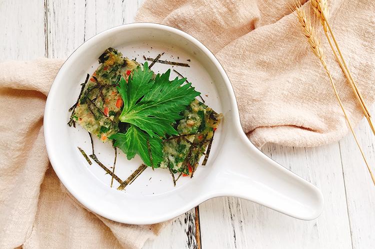 芹菜叶海苔煎饼&香拌芹菜叶