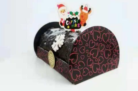 法式脆皮圣诞树桩蛋糕
