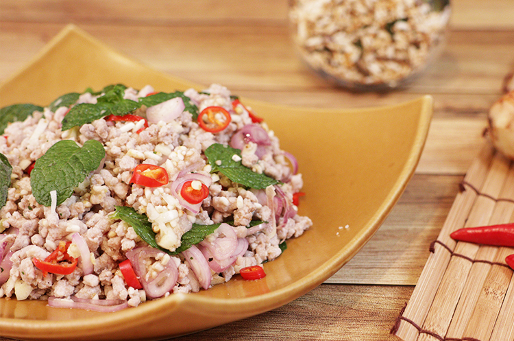 泰式凉拌辣猪肉+凉拌酸辣海鲜冬粉