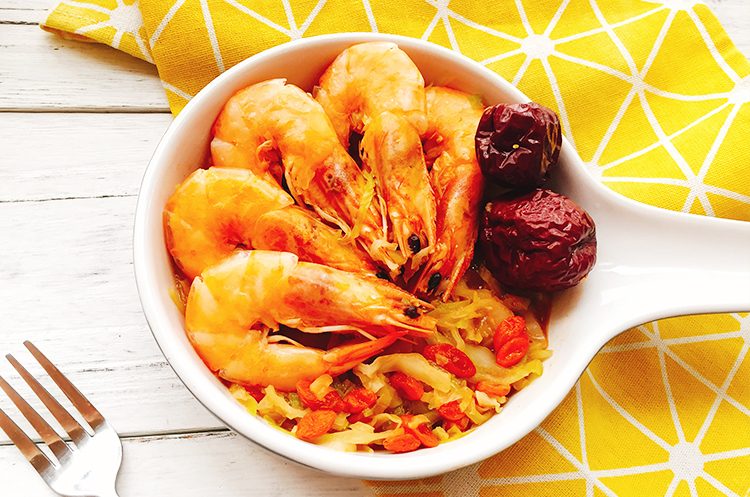 卷心菜麻油鲜虾煮&秘制台式卷心泡菜