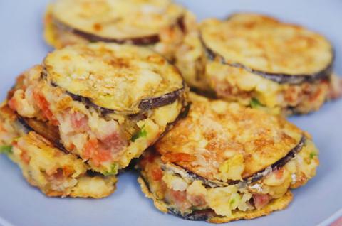 茄子土豆饼和味增茄子