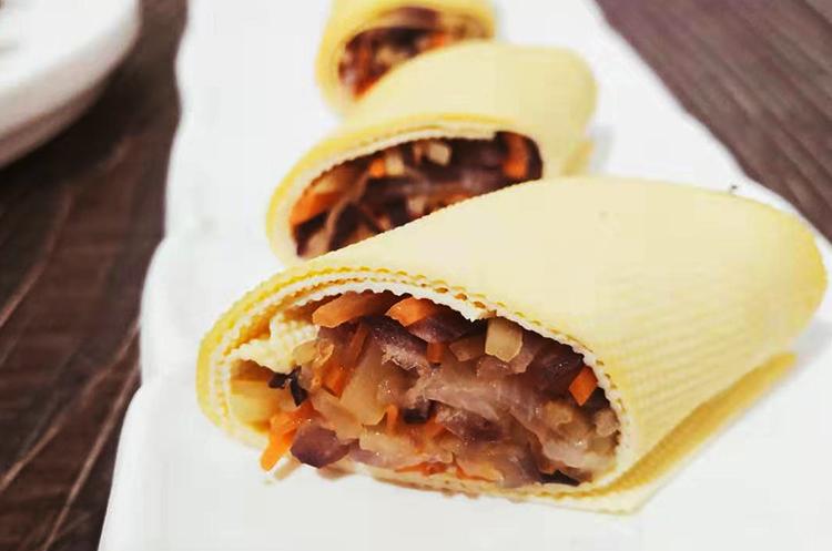 【月子餐】墨西哥烹汁牛肉粒/三鲜卷/鲜玉米蛋花汤