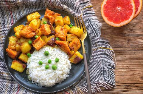 椰浆咖喱鸡肉饭